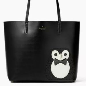 Kate Spade Little Len Clifton Lane Penguin Tote